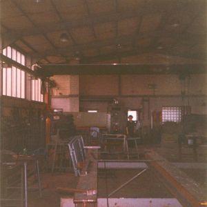 Halle im Spitzenweg, 1979 – Im Bild: Monika Matulka